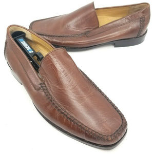Bostonian Mens Brown Leather Dress Shoes Slip On